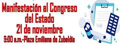 Manifestación al Congreso del Estado
