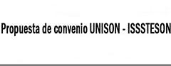 Propuesta de Convenio UNISON-ISSSTESON
