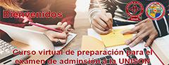 Curso virtual de preparación el Línea para el Examen de Admisión a la UNISON 2021